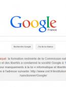 Google épinglé par la CNIL en page d'accueil